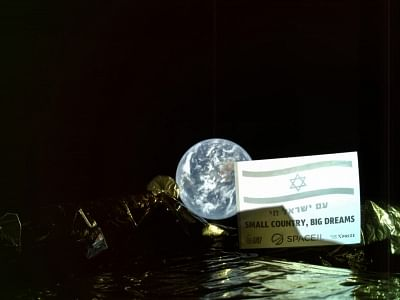 Barely two weeks on its historic journey to the Moon, Israel
