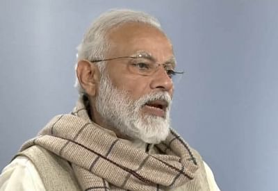 New Delhi: Prime Minister Narendra Modi addresses after laying the foundation stones of five Integrated Command and Control Centres (ICCC) of Smart City Projects in five cities in three northeastern states - Arunachal Pradesh, Sikkim and Tripura - from New Delhi through video conference, in New Delhi on March 7, 2019. (Photo: IANS/BJP)