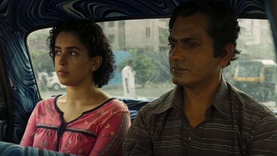 Sanya Malhotra and Nawazuddin Siddiqui in a still from the film