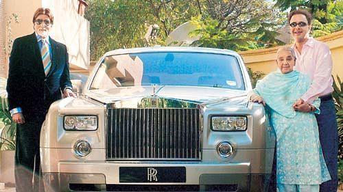 Amitabh with his Rolls Royce.