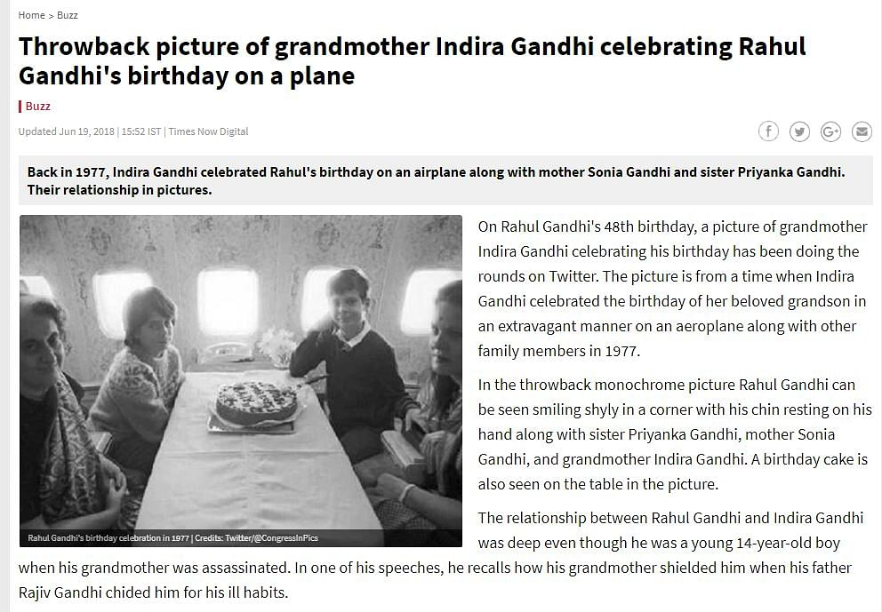 Did Gandhis Party in Style While ISRO Used Cycles, Bullock Carts?