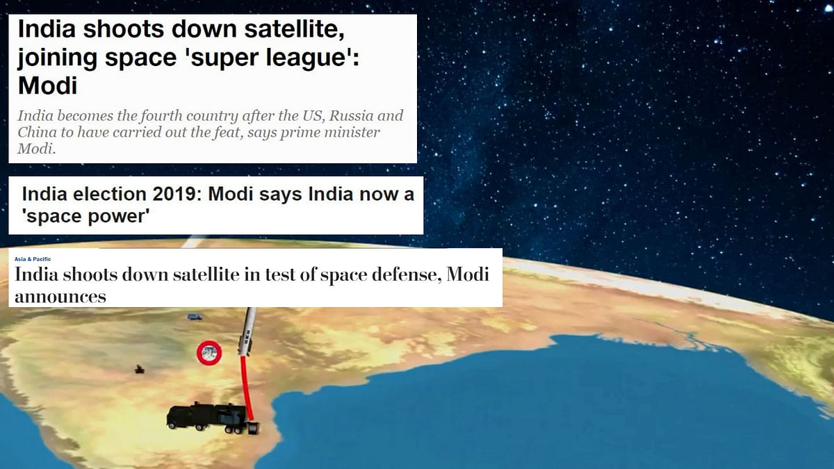 Major Feat, Suspicious Timing: Foreign Media on Mission Shakti