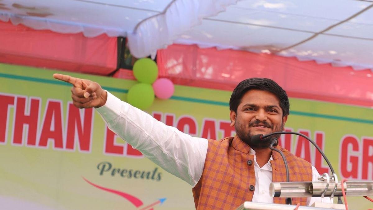 Patidar leader Hardik Patel