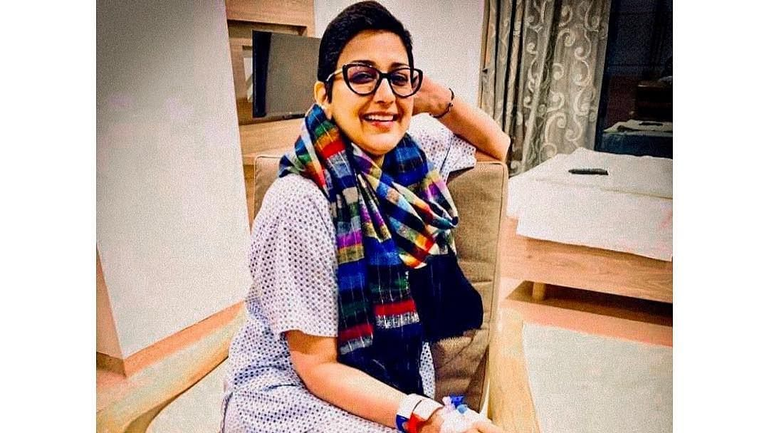 Sonali Bendre is back home after undergoing treatment in the US.