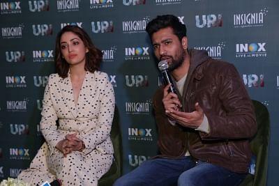 Actors Yami Gautam and Vicky Kaushal. (Photo: Amlan Paliwal/IANS)