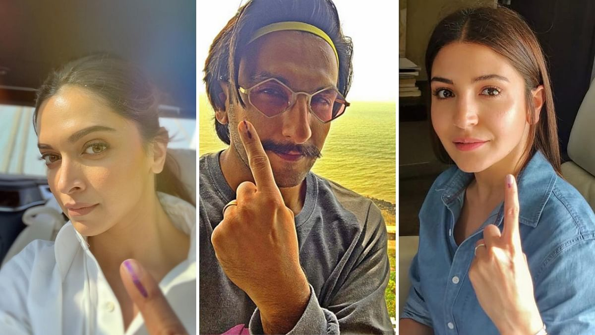 In Pics: Ranveer, Deepika, Anushka & More Vote in Mumbai LS Polls