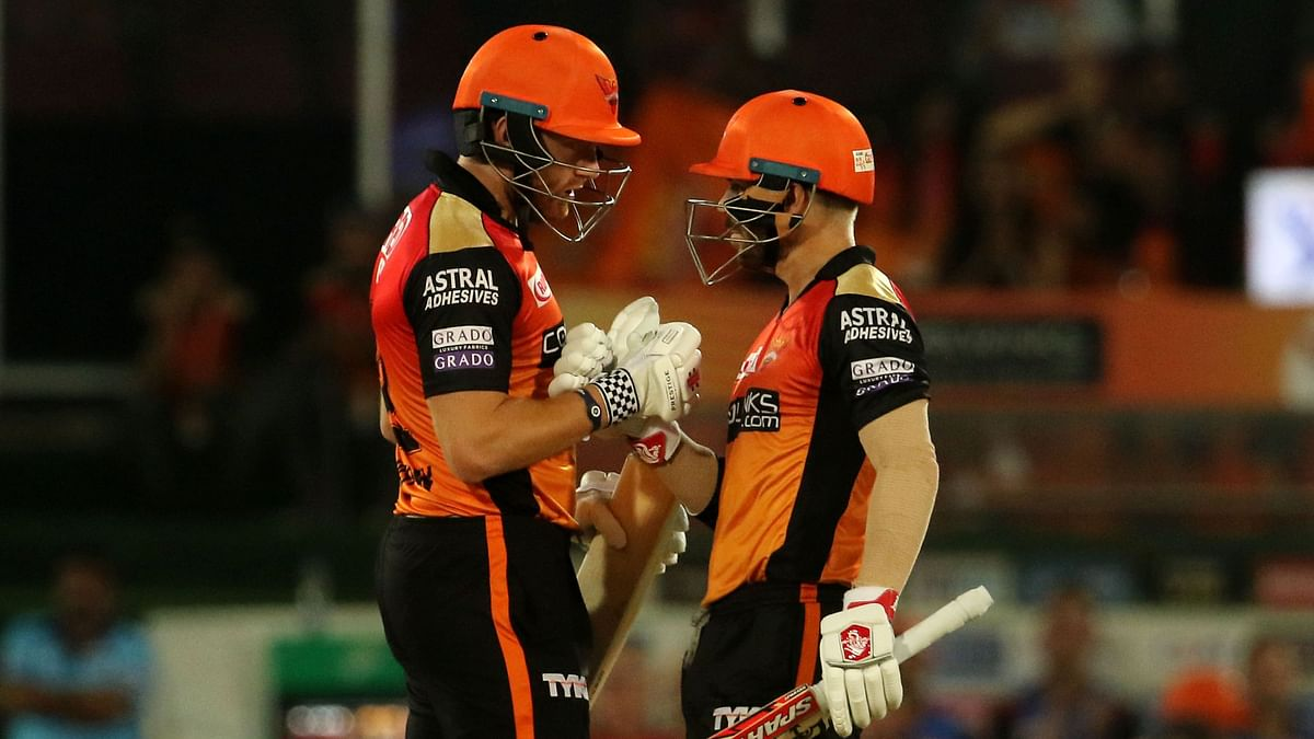 Warner and Bairstow added yet another fifty-run stand for Sunrisers.