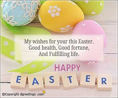 Easter Wishes in English