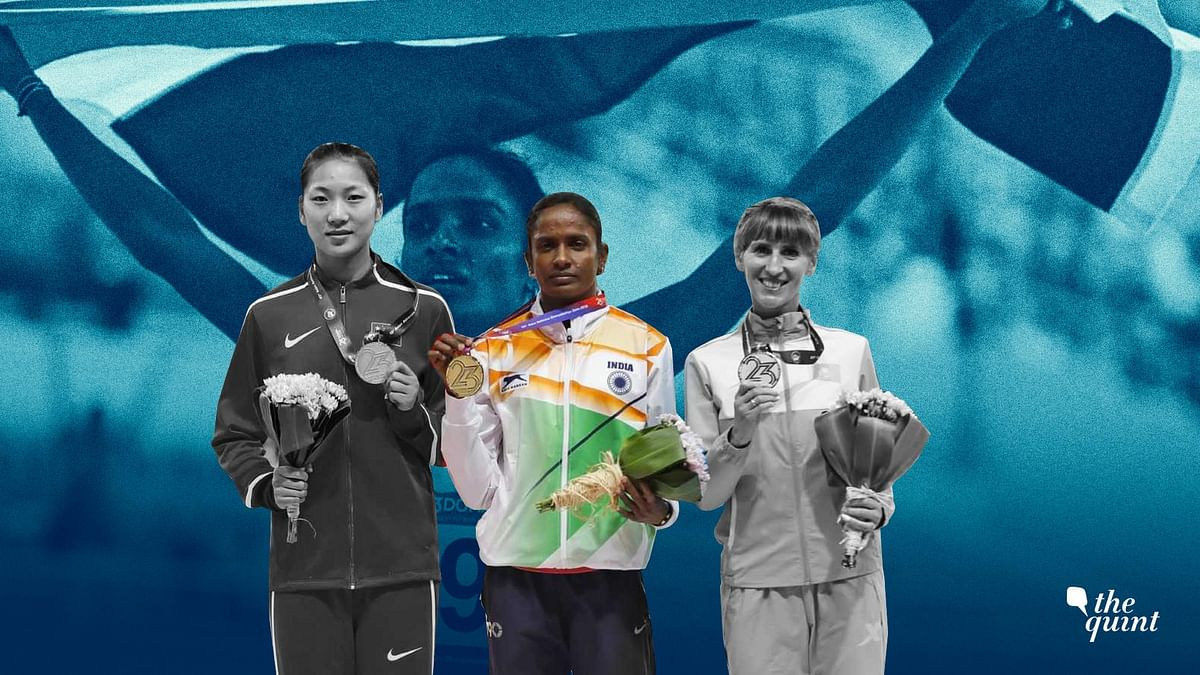 M Gomathi's countenance showed no trace of panic that can destroy an athlete's composure.