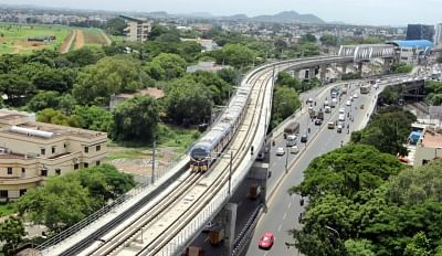 File photo of Chennai Metro Train.