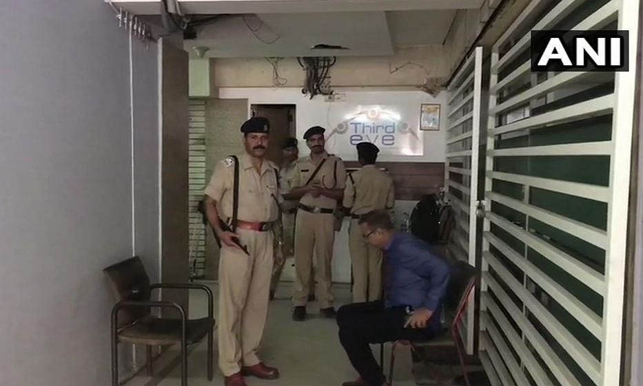 Visuals from official premises of Praveen Kakkar, OSD to Madhya Pradesh CM, where income-tax officials are conducting a raid.