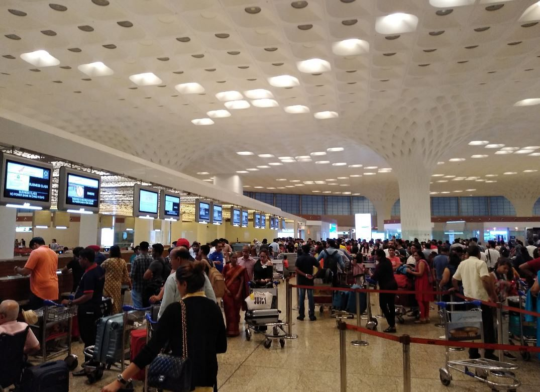 Visuals from the Mumbai airport on Saturday, when the software snag hit the airlines.
