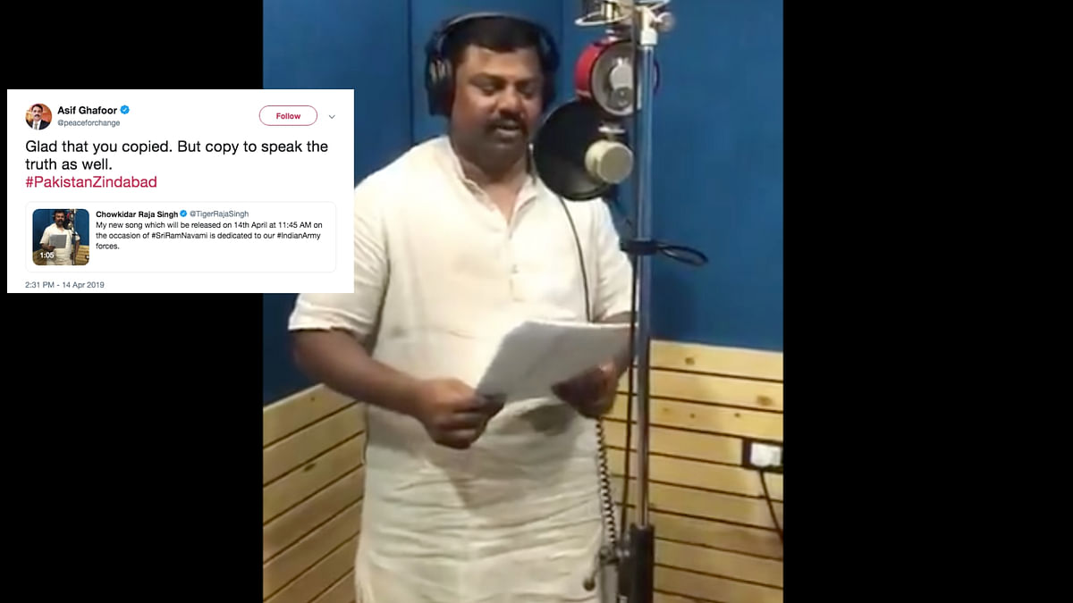 BJP MLA Raja Singh Mocked for 'Copying' Song for Pak Armed Forces