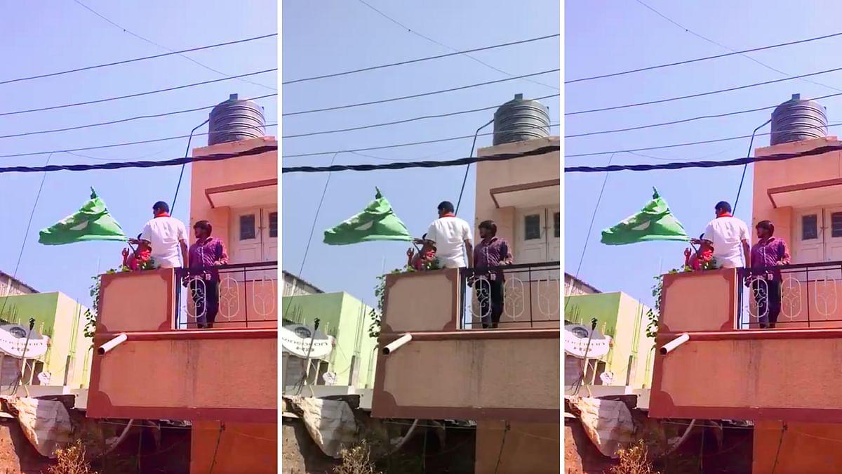 Bengaluru Woman Asked to Remove Green Flag, Say Bharat Mata Ki Jai