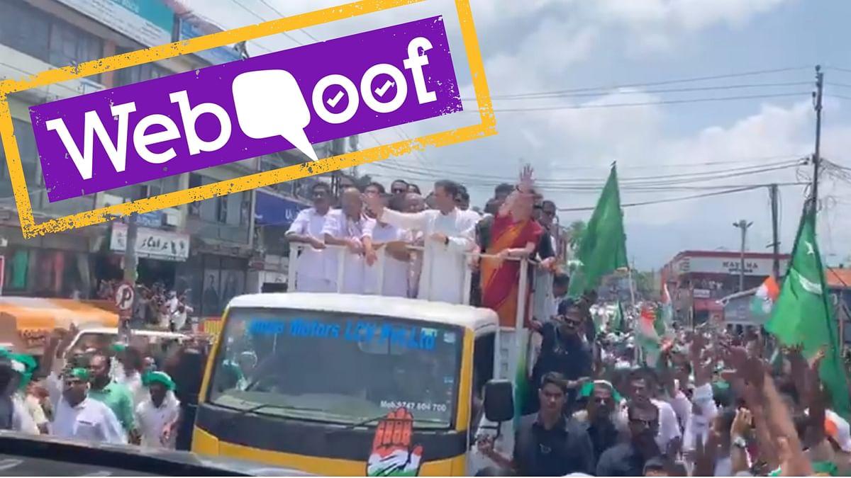 Were Pakistan Flags Raised During Rahul Gandhi's Wayanad Roadshow?