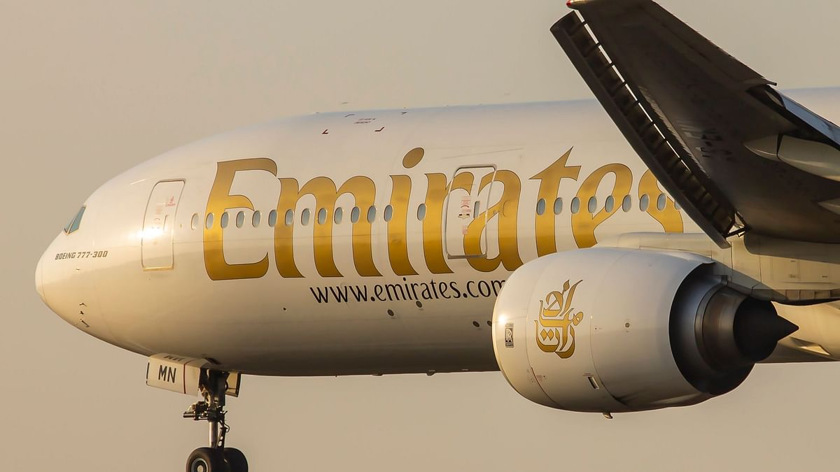 File photo of an Emirates Airlines's aircraft
