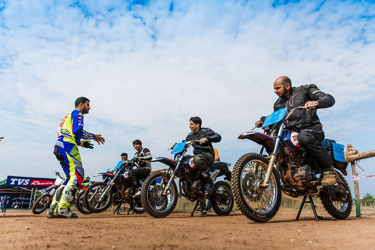 Dakar Rally rider KP Aravind mentoring budding off-road enthusiasts.