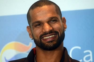 Mumbai: Indian cricketer Shikhar Dhawan during a programme organised by GS Caltex India to sign him as their brand ambassador in Mumbai on April 24, 2019. (Photo: IANS)