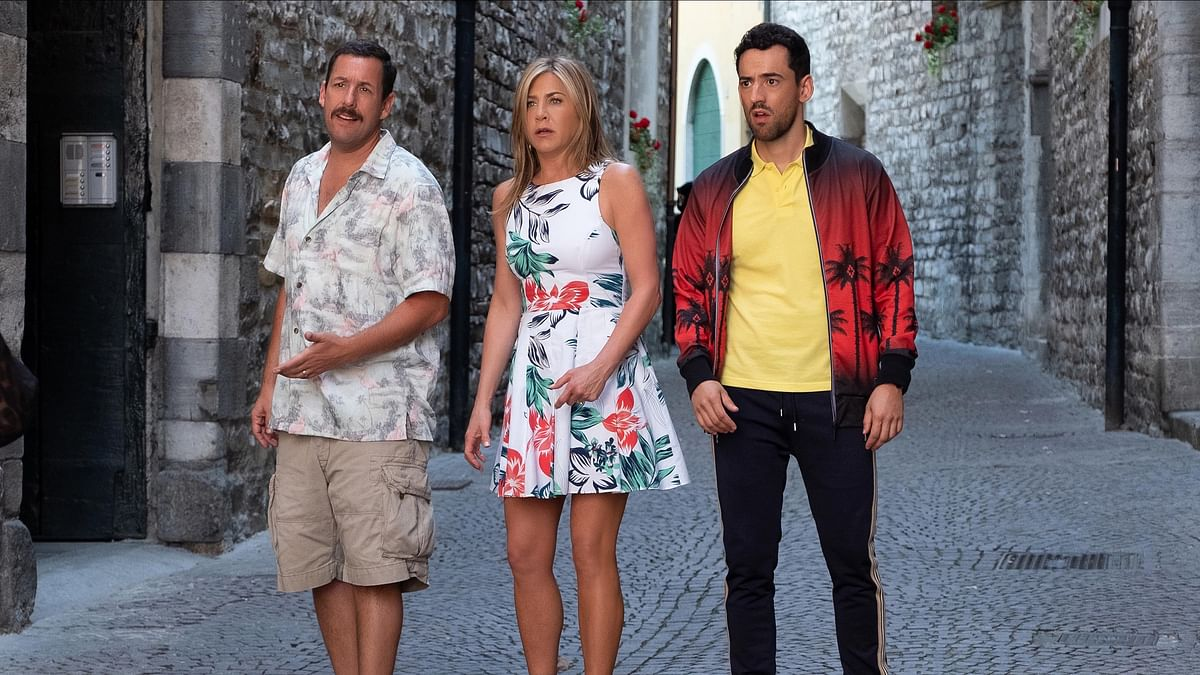 A still from Adam Sandler and Jennifer Aniston-starrer <i>Murder Mystery</i>.