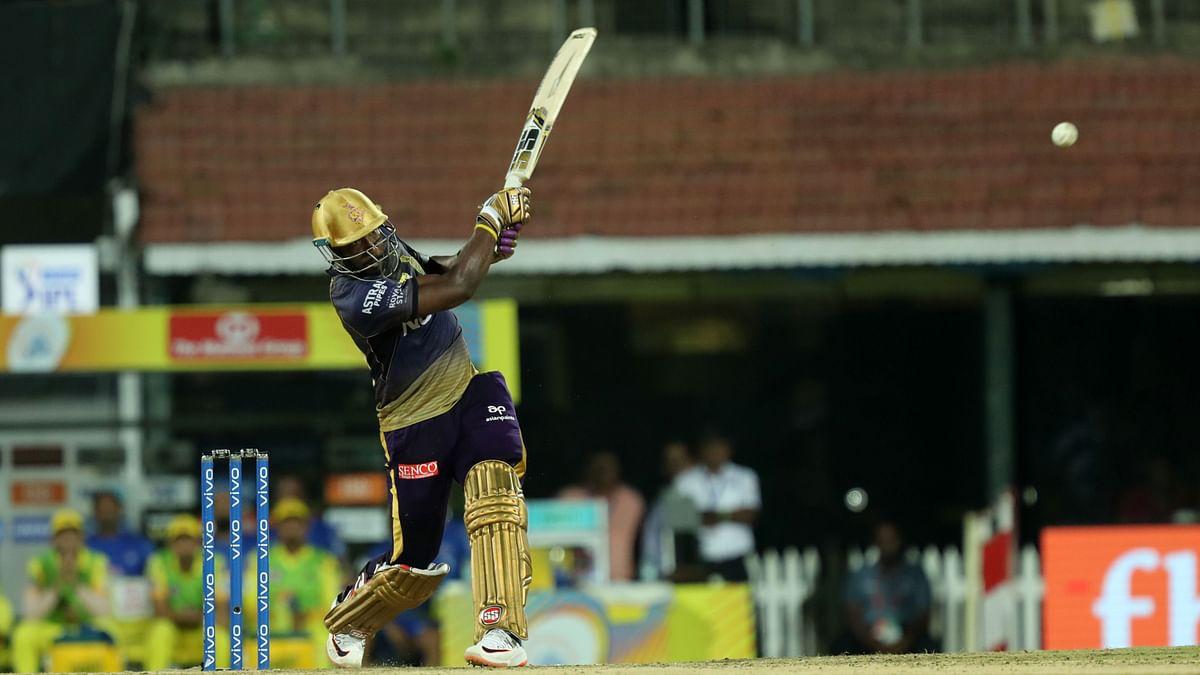 Andre Russell scored a 44-Ball 50 for Kolkata Knight Riders at the Chepauk on Tuesday.