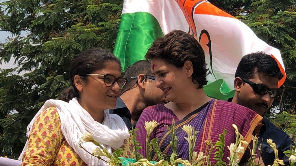 Priyanka Holds Roadshow in Silchar, Campaigns for Mahila Cong Prez