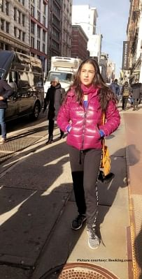 "After wrapping up a schedule of ""Love Aaj Kal 2"", actress Sara Ali Khan is on a vacation in New York with her friends."