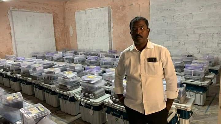 TRS Polling Agent Arrested for Taking Photos of EVM Strongroom