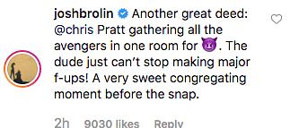 Chris Pratt Posts 'Illegal' BTS Video from 'Avengers: Endgame' Set