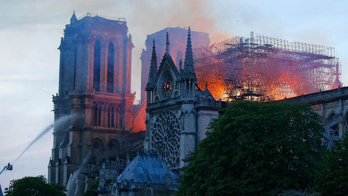 In Pictures: Catastrophic Fire Engulfs Paris' Notre Dame Cathedral