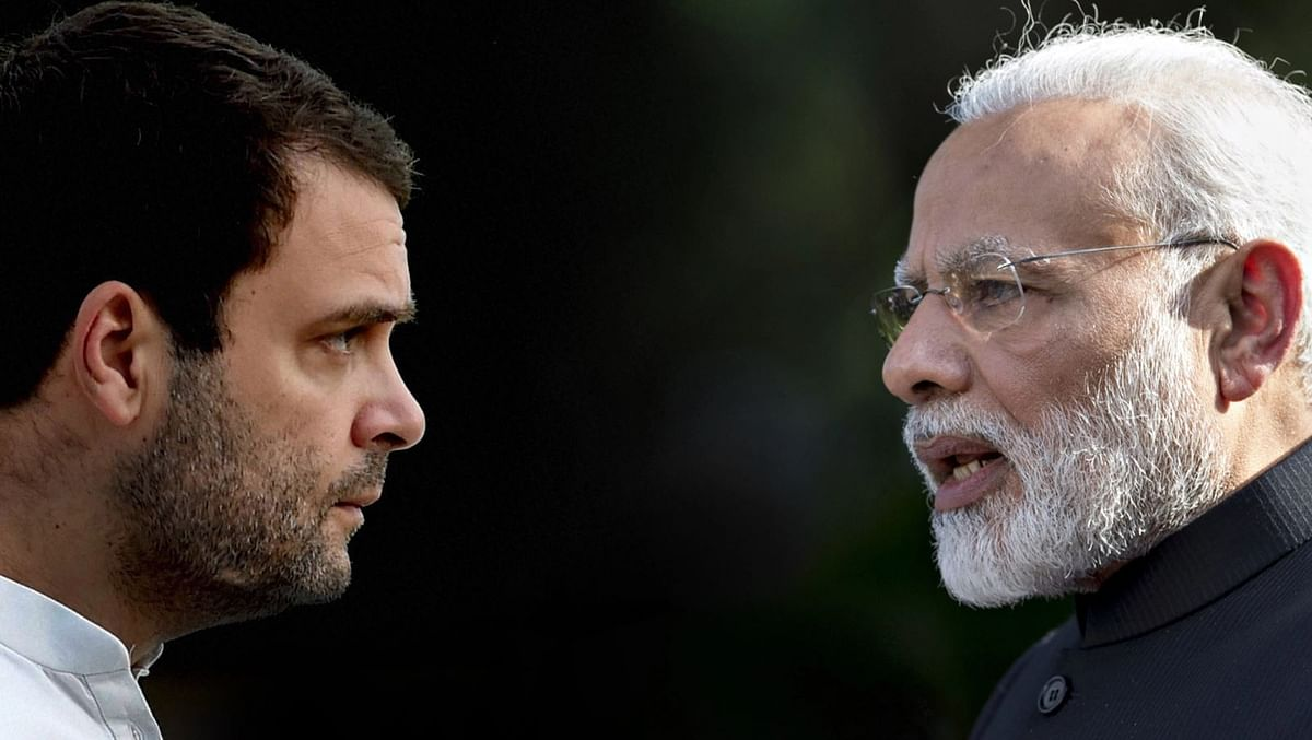 Congress leader Rahul Gandhi and PM Narendra Modi.