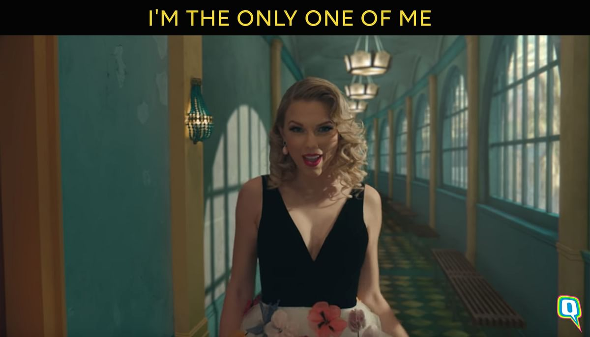 "Still from Taylor Swift's song ""Me"""