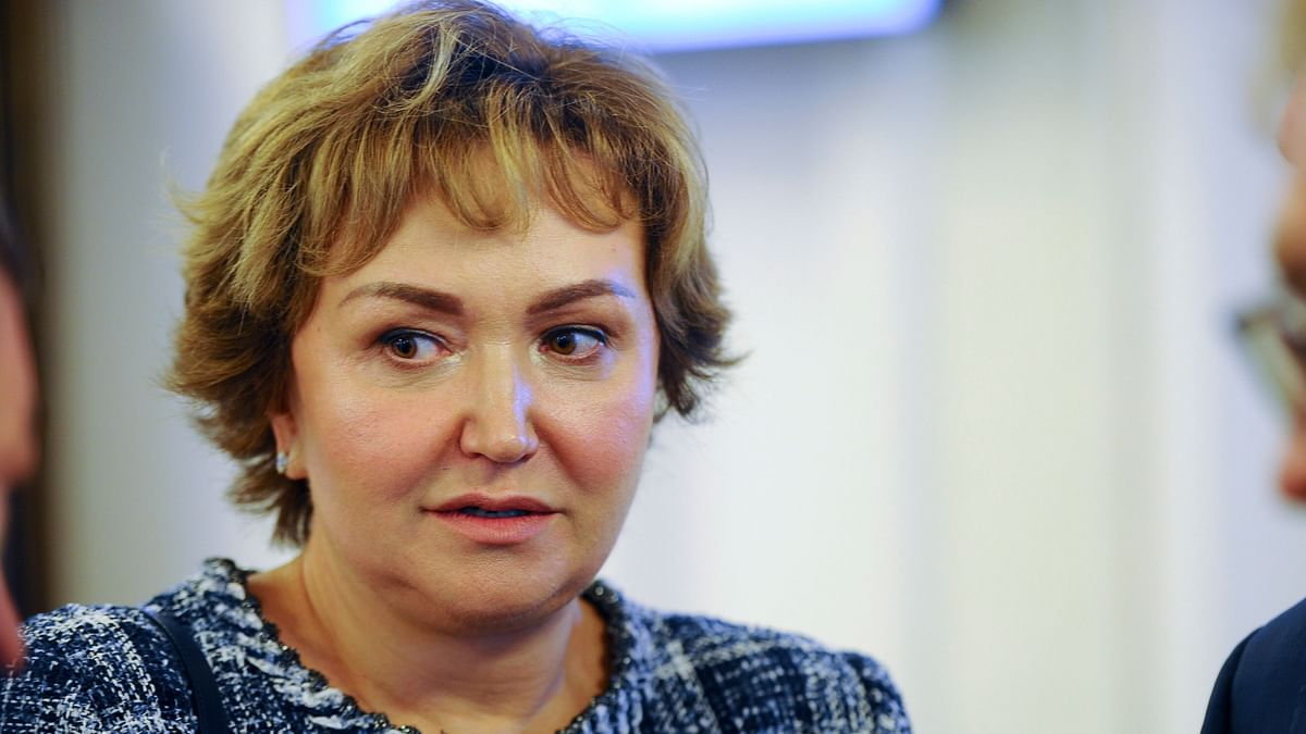 In this photo taken on Tuesday, 3 July 2018, S7 Group co-owner Natalia Fileva attends a meeting in Novosibirsk, Russia. One of Russia's richest women, S7 Group co-owner Natalia Fileva, has died in a small plane crash in Germany, the Russian airline operator said Sunday.
