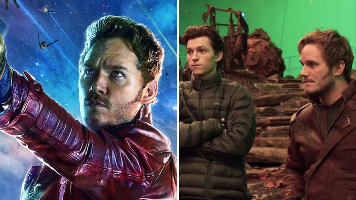 Chris Pratt, aka Star Lord, on the sets of <i>Avengers: Endgame</i>.