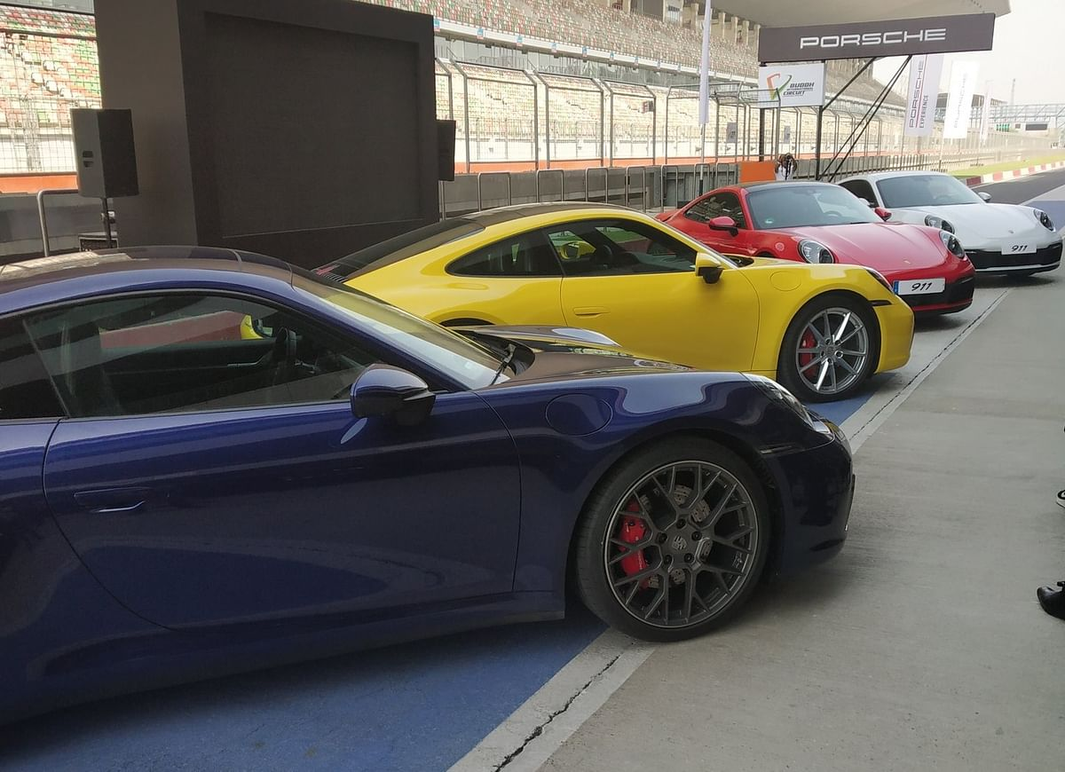 The Porsche 911 gets 20-inch wheels in front and 21-inch at the rear.