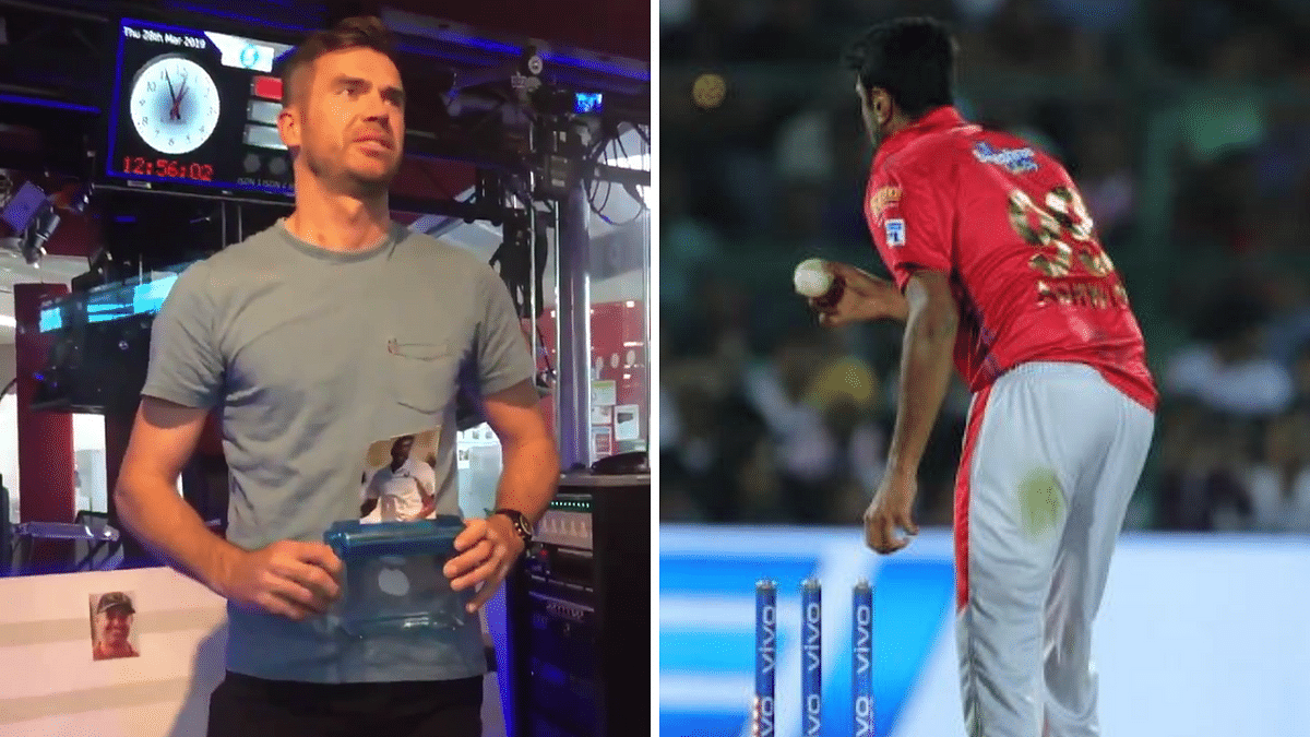 In one of the videos, the England pacer can be seen shredding Ashwin's picture in protest of his 'Mankading' act.
