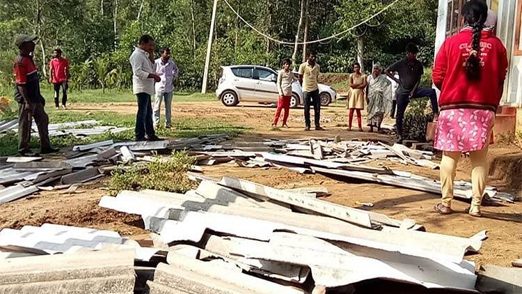 More than 50 houses were damaged after a spell of rainfall hit Kodagu district of Karnataka,