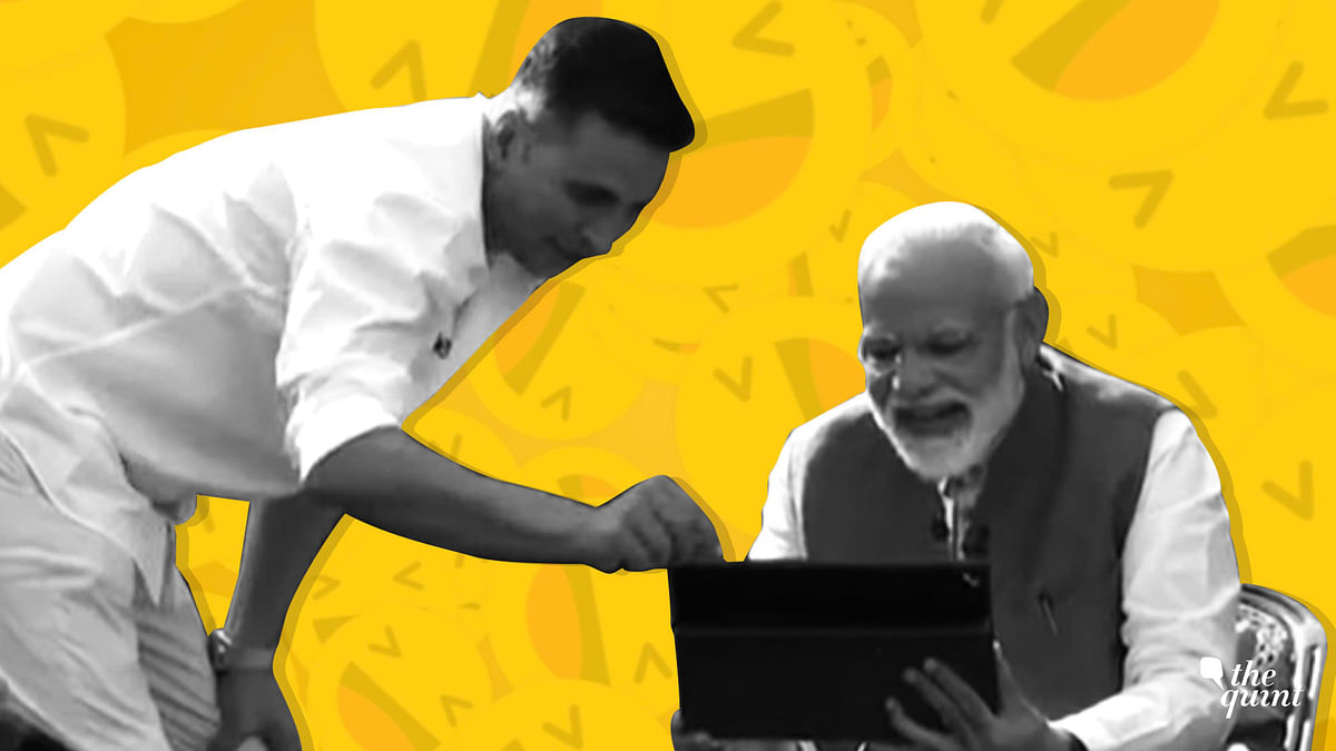 Akshay Kumar whipped out a sleek tablet and proceeded to lighten the mood by showing PM Modi a bunch of memes.
