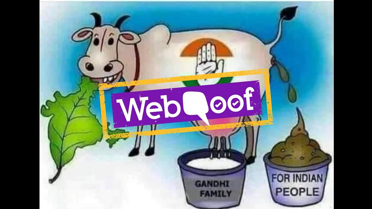 The viral cartoon, purportedly created by American cartoonist Ben Garrison, shows a cow defecating into a bucket, meant to represent Indian people.