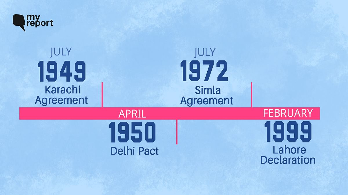 Here's a look at the attempts at peace between India and Pakistan from 1947 to 1999.