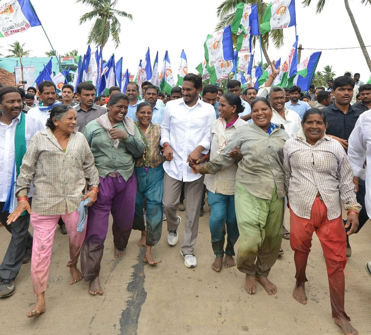 Jagan undertook a padayatra across the state from 6 November 2017 to 9 January 2019.