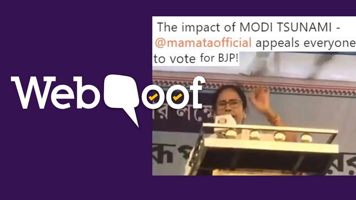 Did Mamata Urge People to Vote for BJP? No, It's a Doctored Video