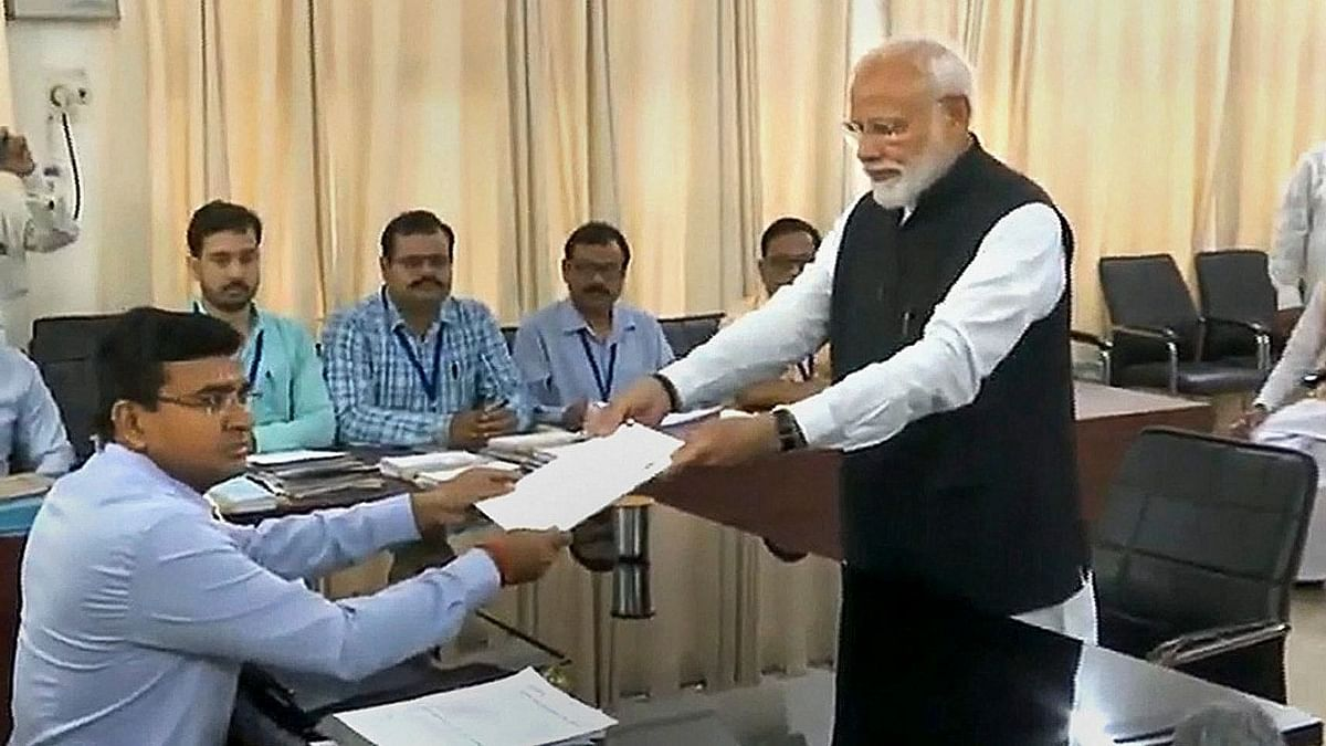 Accompanied by Top NDA Leaders, Modi Files Nomination for Varanasi