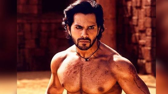 Varun Dhawan shows off his chiseled body in Kalank.