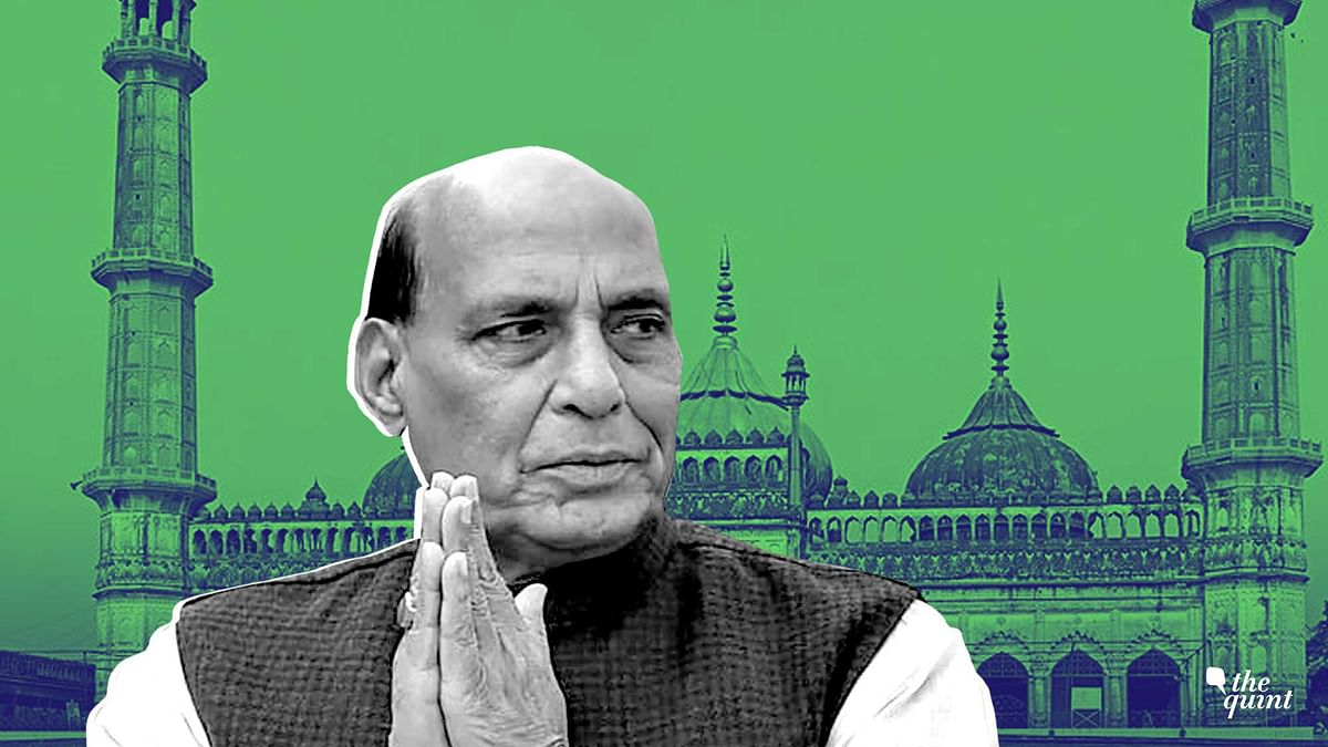 Image of Rajnath Singh against backgrounf of Lucknow's Imambada, used for representational purposes.