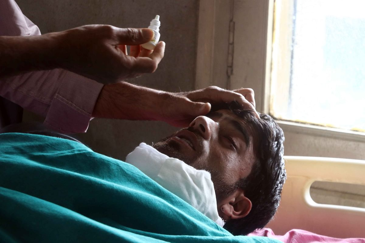 Man injured in the clashes.