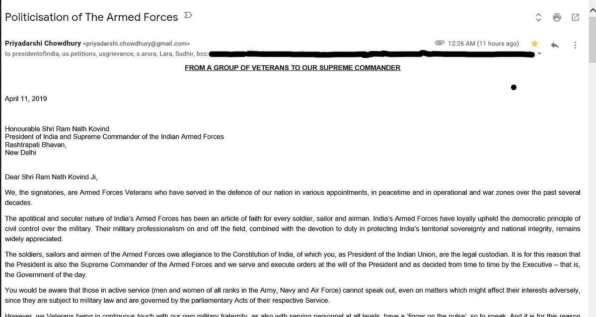 Veterans Split Over 'Politicisation of Armed Forces' Letter