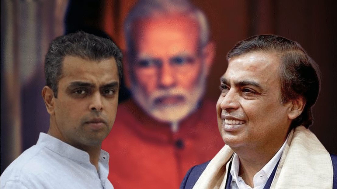 Industrialist Mukesh Ambani appeared in a video endorsing Congress candidate Milind Deora for the Mumbai South constituency.
