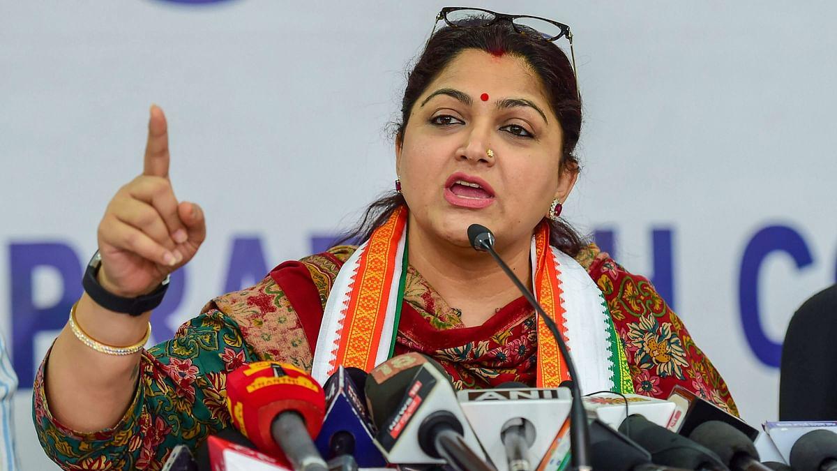 Actress turned politician and Congress' spokesperson Khushbu Sundar.