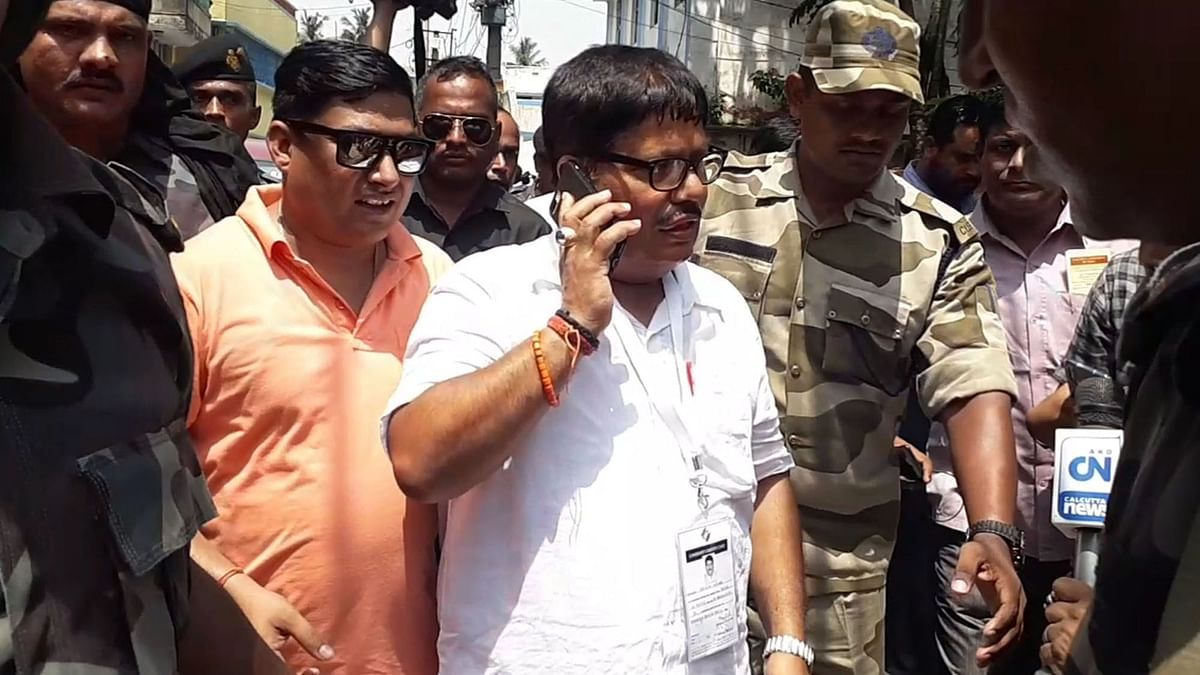 BJP candidate for Barrackpore Lok Sabha seat, Arjun Singh, during the fifth phase of elections.
