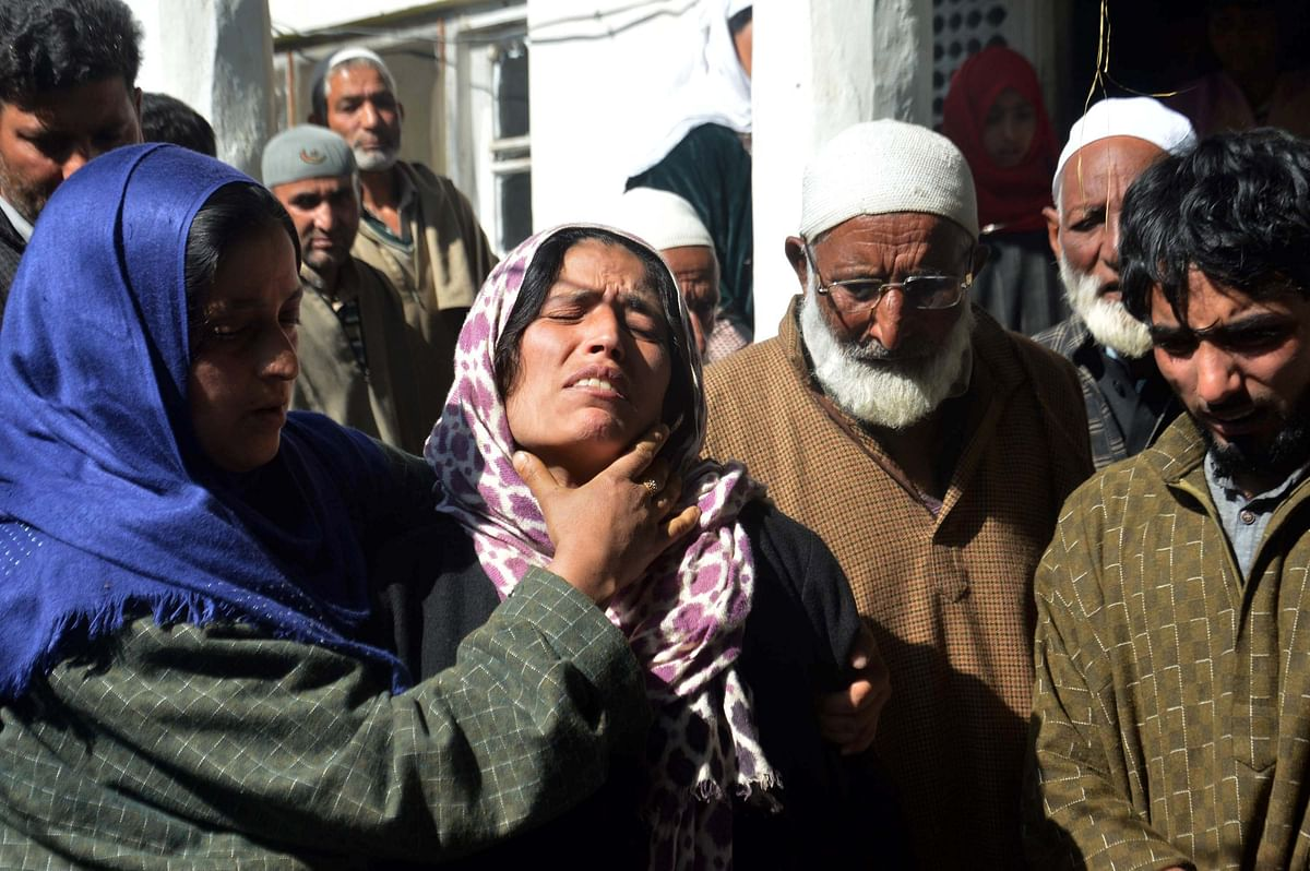 Gul Mir's relatives and villagers turned up in large numbers to perform his last rites.